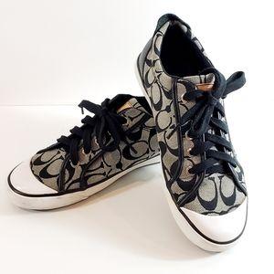 Coach Sneakers Signature Jacquard Black Size 9